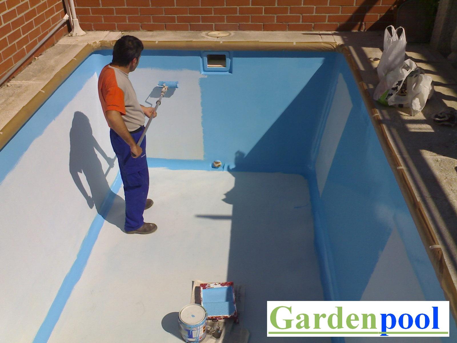 Pintura para piscinas en madrid pintores piscinas gardenpool - Pintura de piscina ...